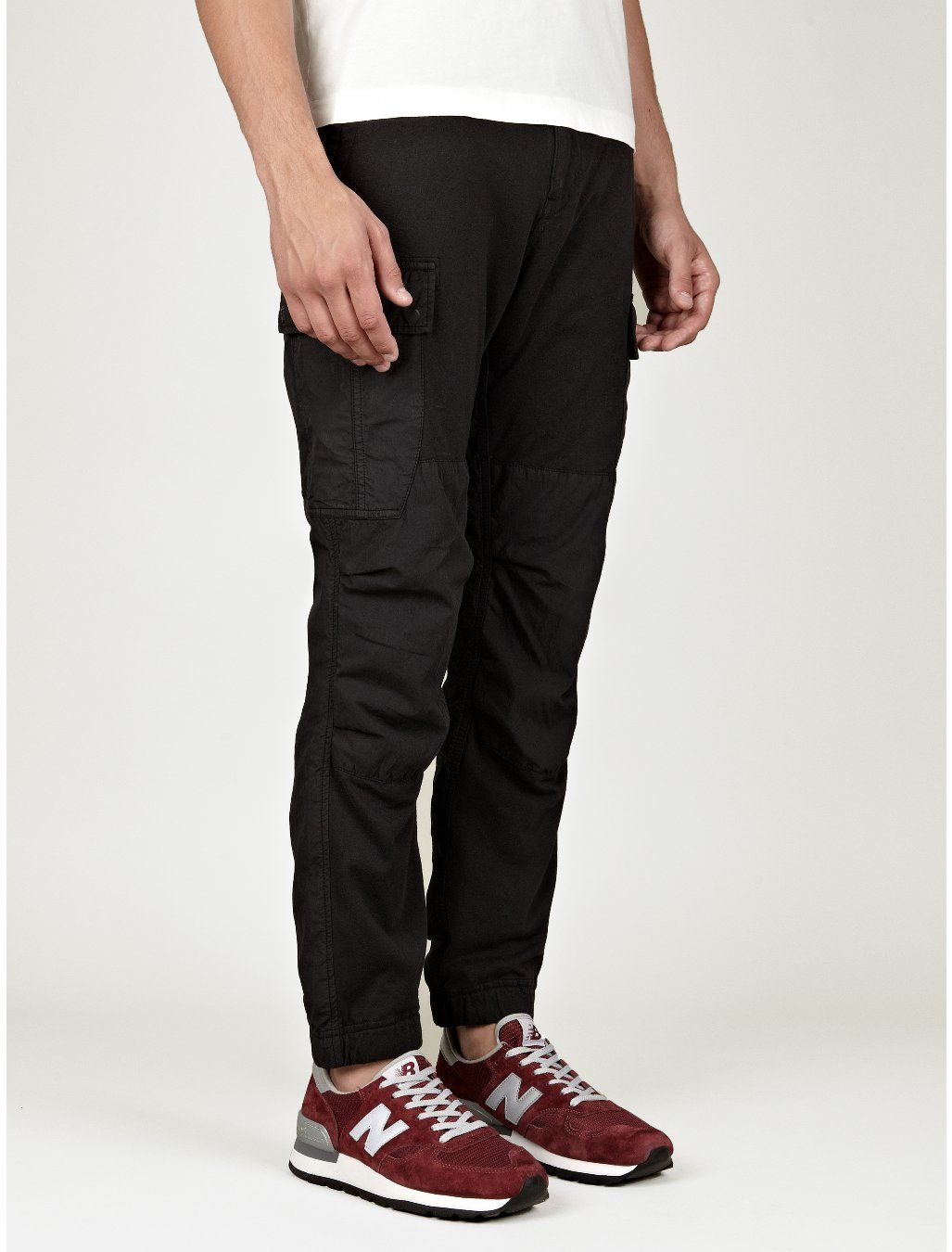 Stone Island Men's Black Cargo Pants | oki-ni | Black ...