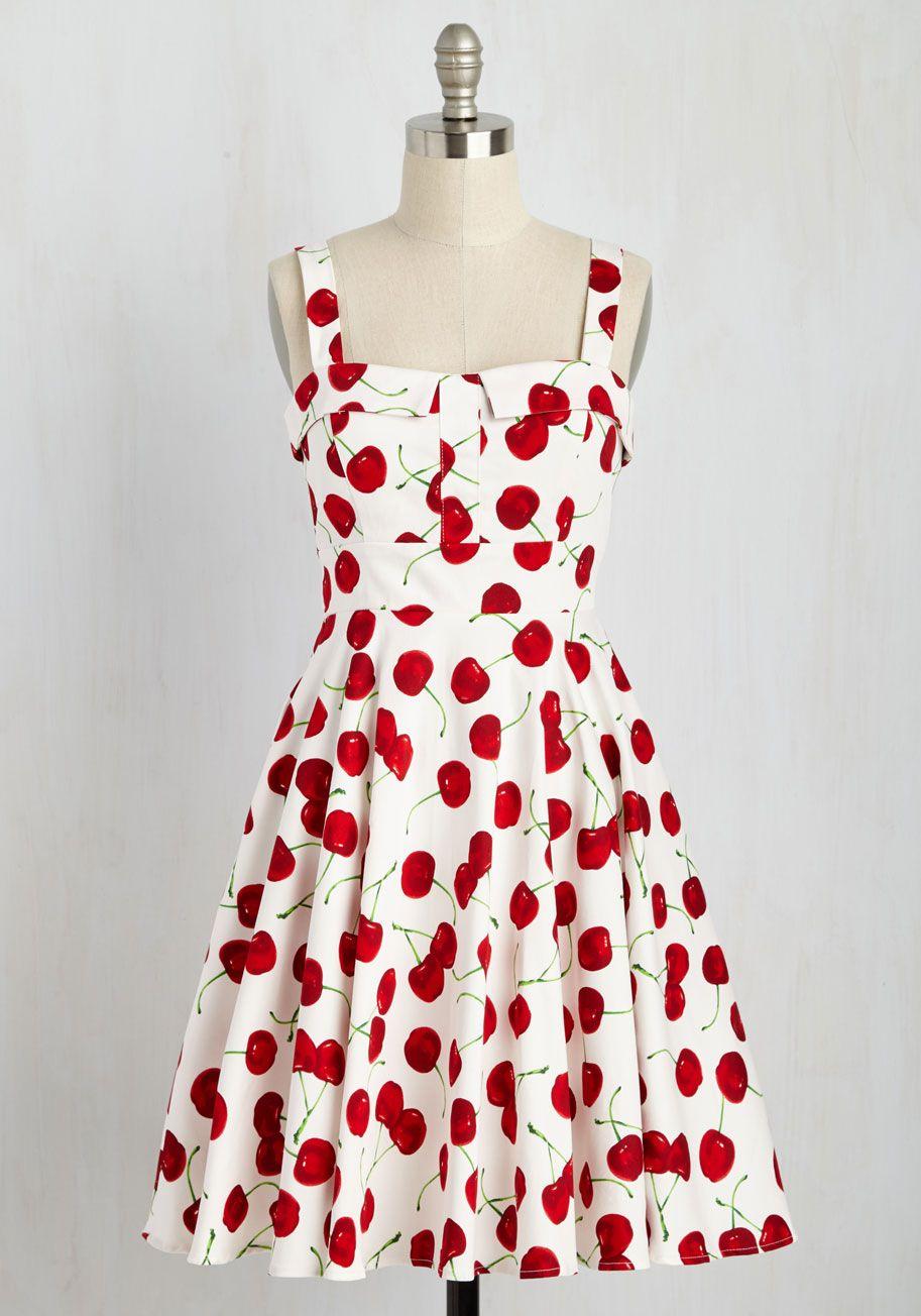 Pin By Beiruiliu On Vestidos Cherry Dress White Vintage Dress Mod Cloth Dresses [ 1304 x 913 Pixel ]