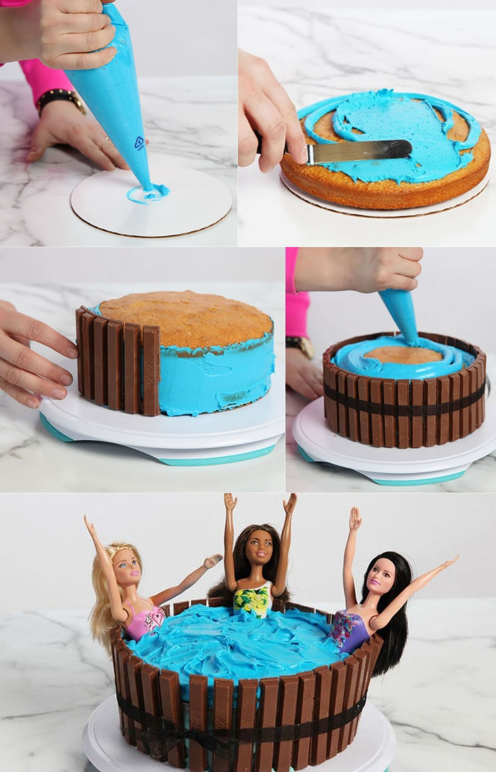 Hot Tub Kit Kat Cake Is Super Cute And Very Easy To Make Easy