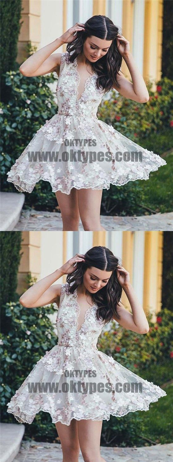 homecoming dress tulle aline vneck short prom dress party