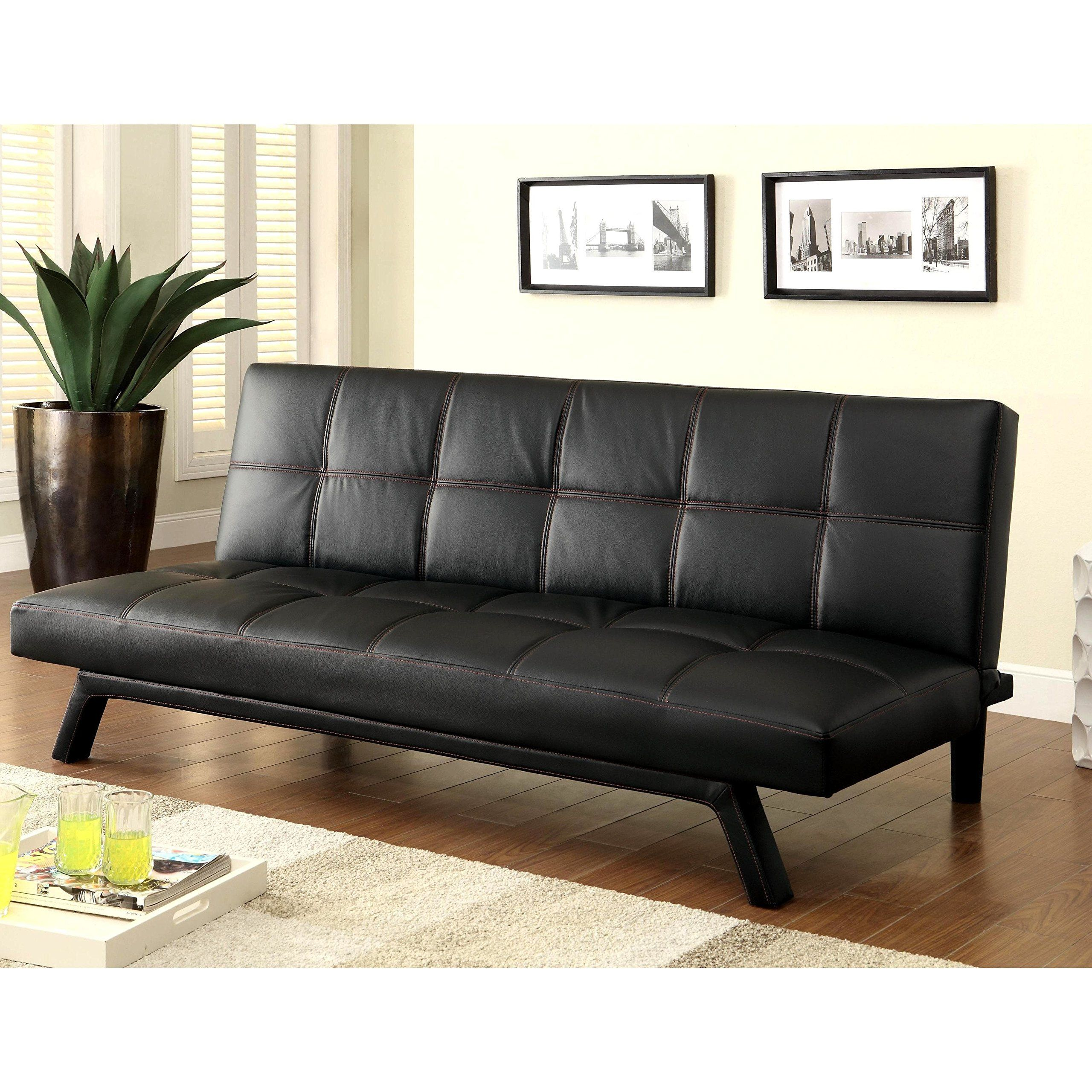 into turns black futon sleeper idea bed unique sofa sofas couch ideas of best convertible design that