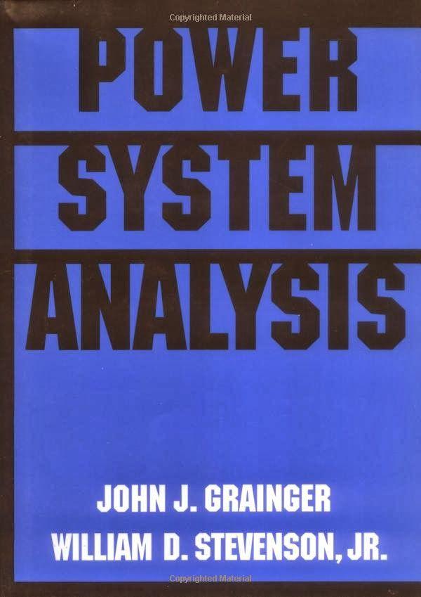 power system analysis by john j grainger william d stevenson jr
