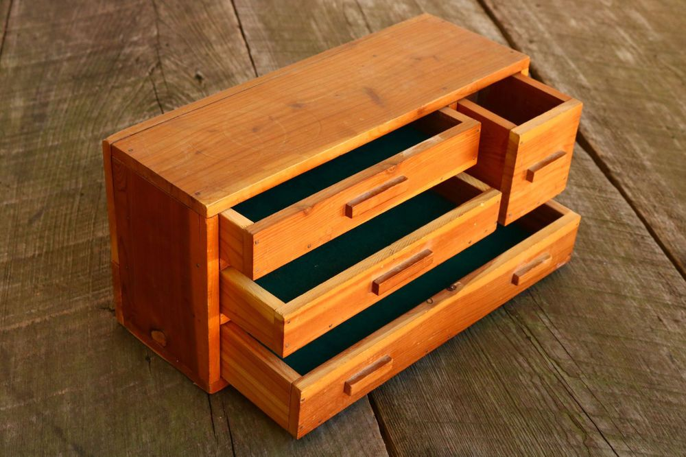 Details About Wood Tool Chest Art Crafts Craft Work
