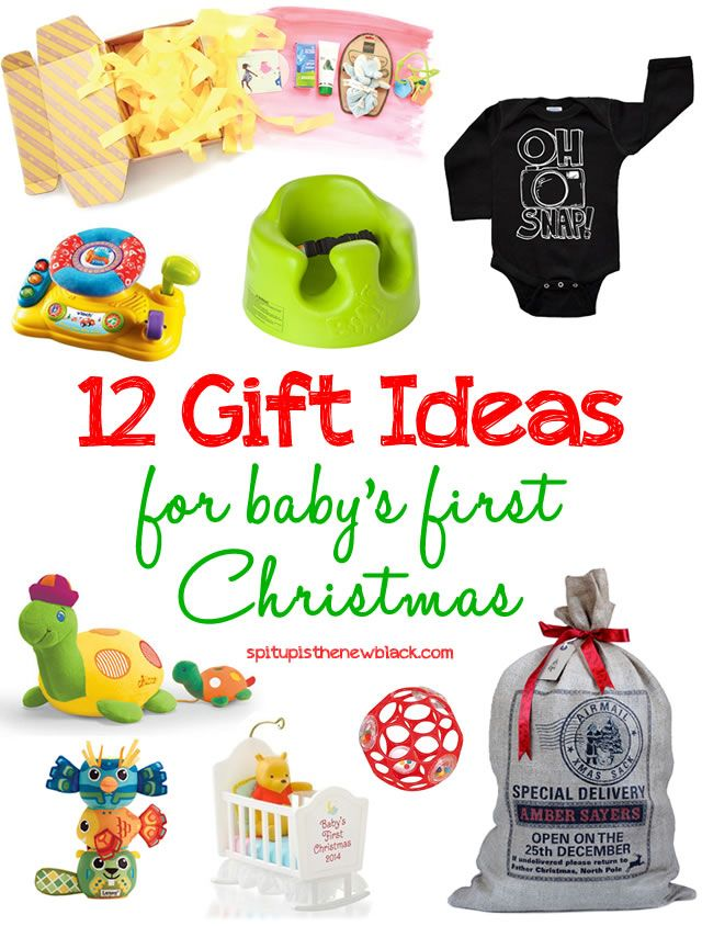 12 Gift Ideas For Baby S First Christmas Spit Up Is The New Black Baby Christmas Gifts Baby S First Christmas Gifts Christmas Baby