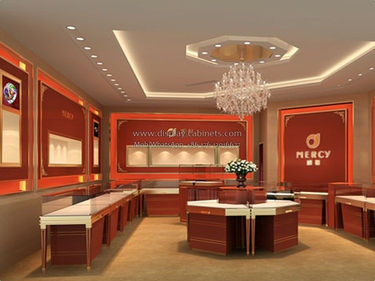 JW48 Jewelry Display Case SupplierHow To Attract People's Magnificent Jewelry Store Interior Design Plans