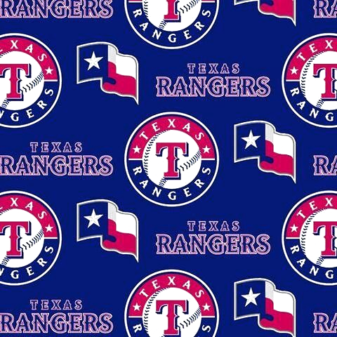 TEXAS RANGERS ALL OVER FLEECE FABRIC  #fabric #textile #fabricbytheyard #fleece #antipill #polarfleece #polyester #blanket #sports #prosports #prosportsfaric #baseball #MLB #licensedsportsfabric #texas #rangers #texasrangers