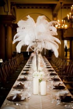 Art deco wedding table decorations google search luxe for Art deco wedding decoration ideas