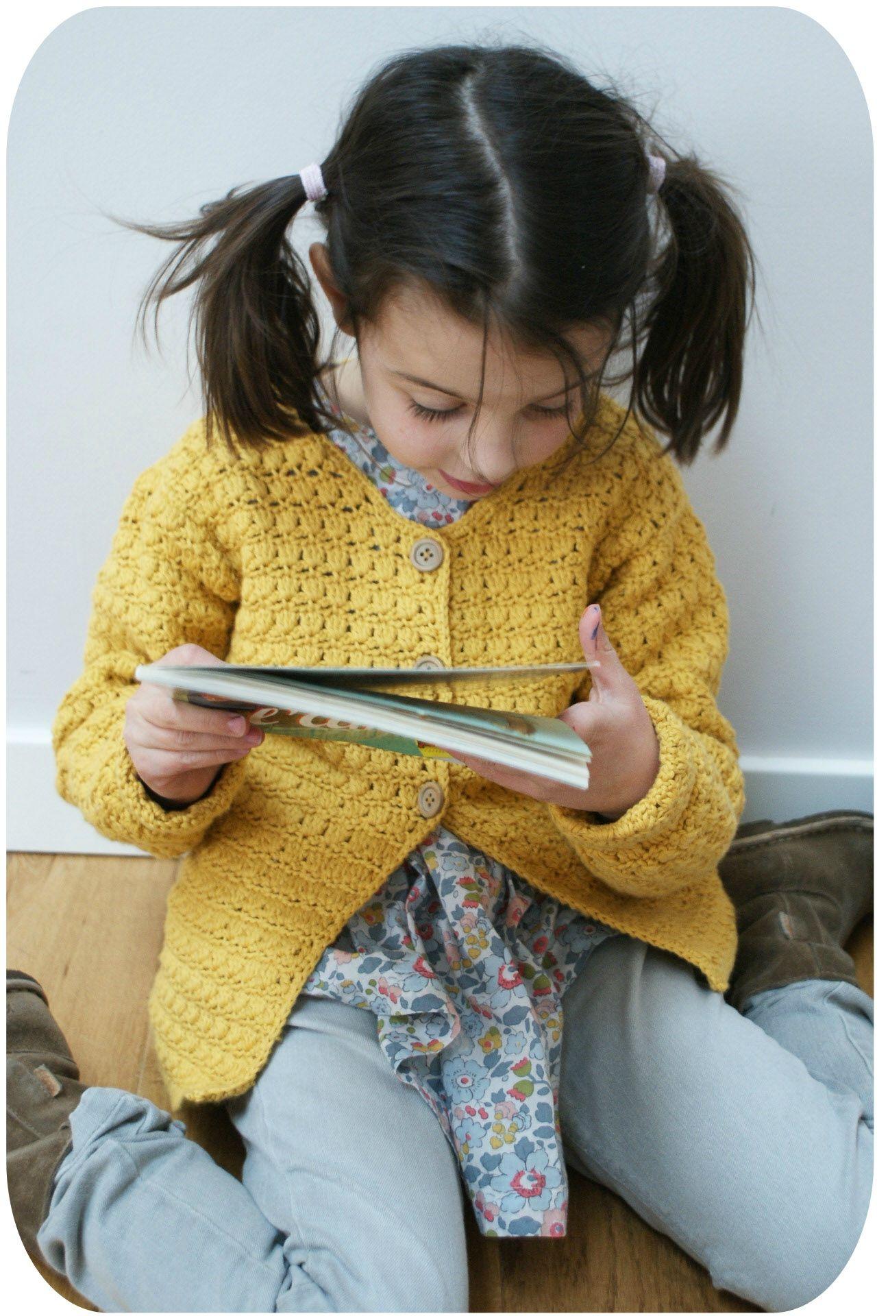 Gilet crochet 5-6 ans