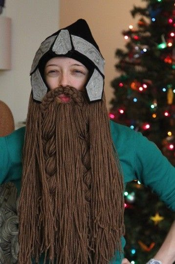 DIY  a hobbit (and gimli) inspired dwarf beard-hat tutorial! (no knitting  or sewing required) 7aacf4a1b98