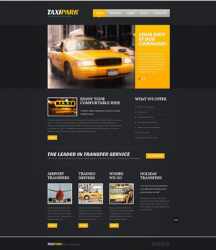 Taxi Website Template  Website Designs