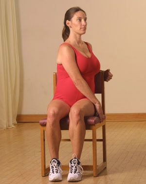 exercising with a chair  hip workout chair exercises