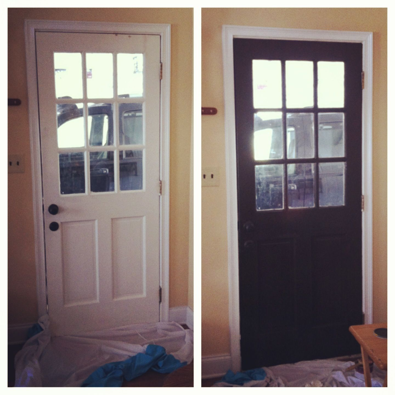 painting interior doors a dark color house pinterest. Black Bedroom Furniture Sets. Home Design Ideas