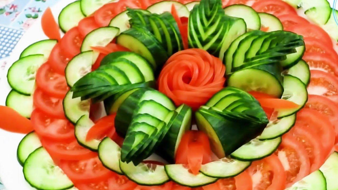 Super Salad Decoration Ideas Tomato Rose Cucumber Decoration