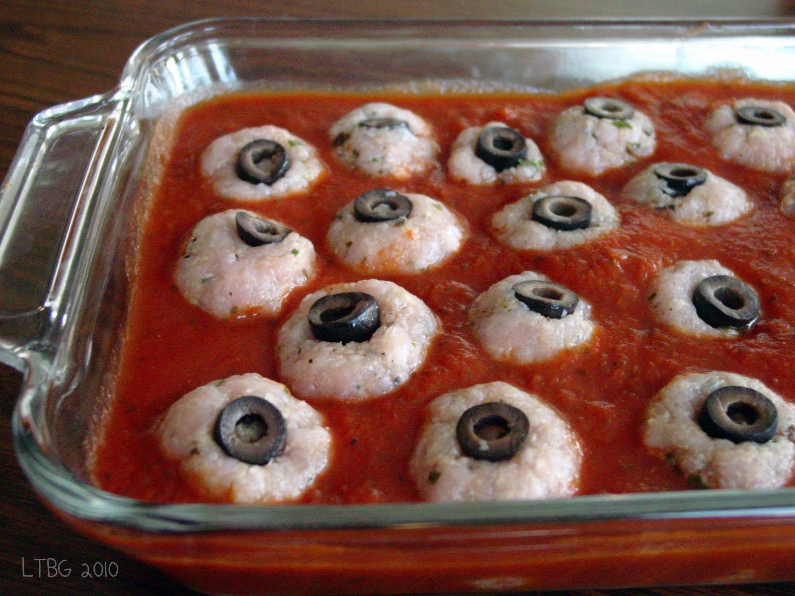 lick the bowl good halloween recipe turkey pesto eyeballsturkey pesto meatball eyes gruesome - Scary Halloween Meatballs
