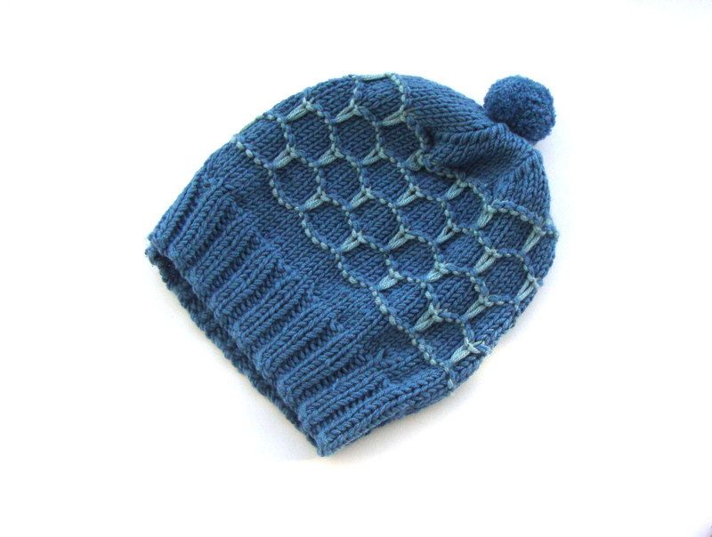 Pom Pom blue hat, hand knit beanie, fall fashion hat, winter fashion 2012, knitted hat, teal, merino wool hat. $29.00, via Etsy.