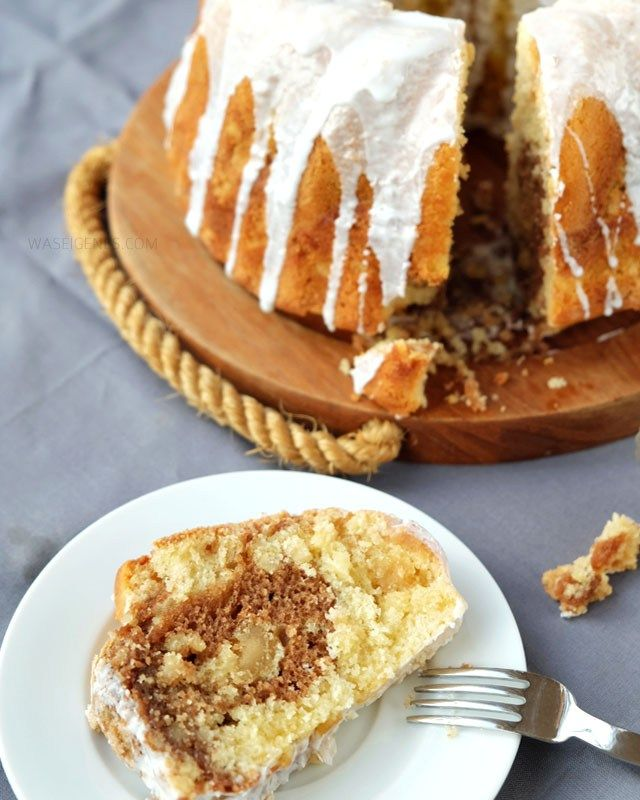 Marzipan Mandel Gugelhupf | Marzipan Almonds Bundt Cake | Rezept | recipe | waseigenes.com