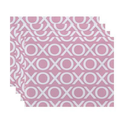 e by design Valentine's Day Placemat Color: