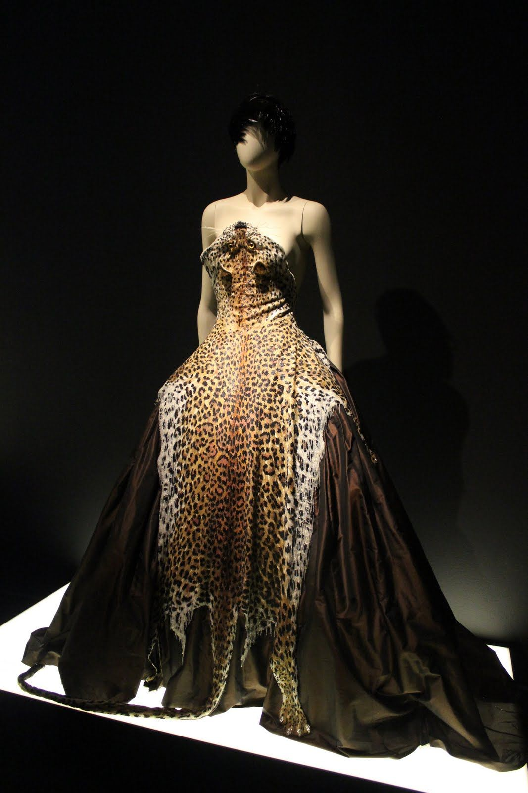 The Fashion World Of Jean Paul Gaultier From Sidewalk To Catwalk Taffeta Evening Gown With Leopard Skin Bead Embroidery And Rhinestone Claws