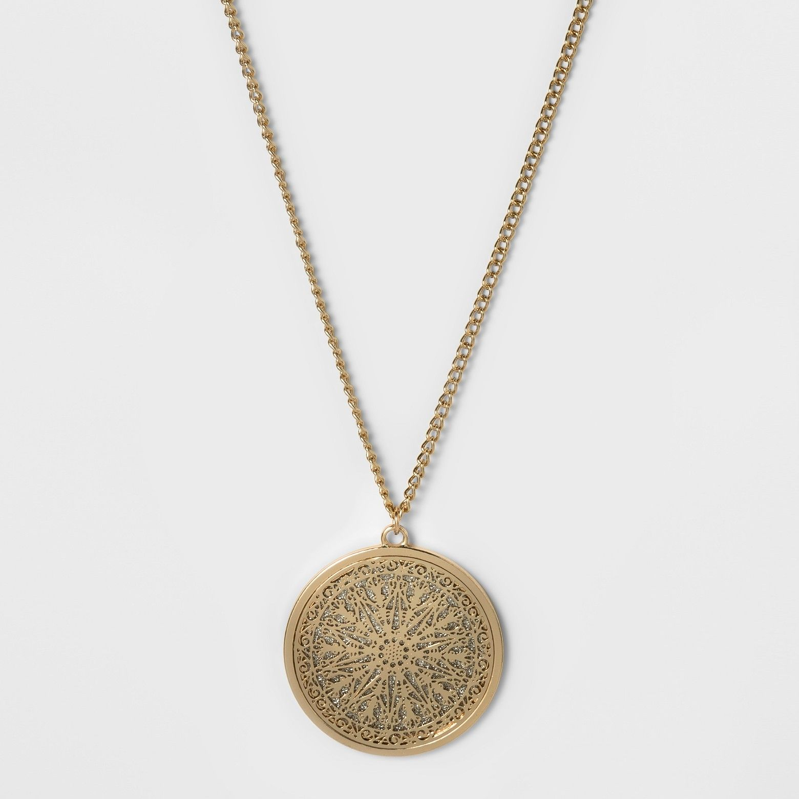 Fashion pendant necklace silvergold thin gold chain gold