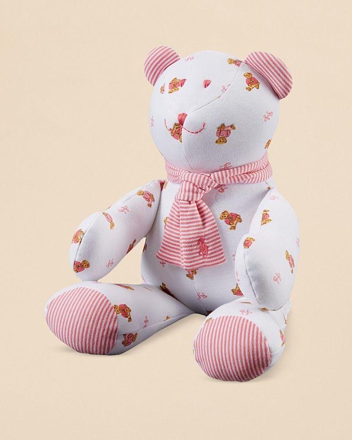 Ralph Lauren Childrenswear Infant Girls' Bear Print Plush Bear