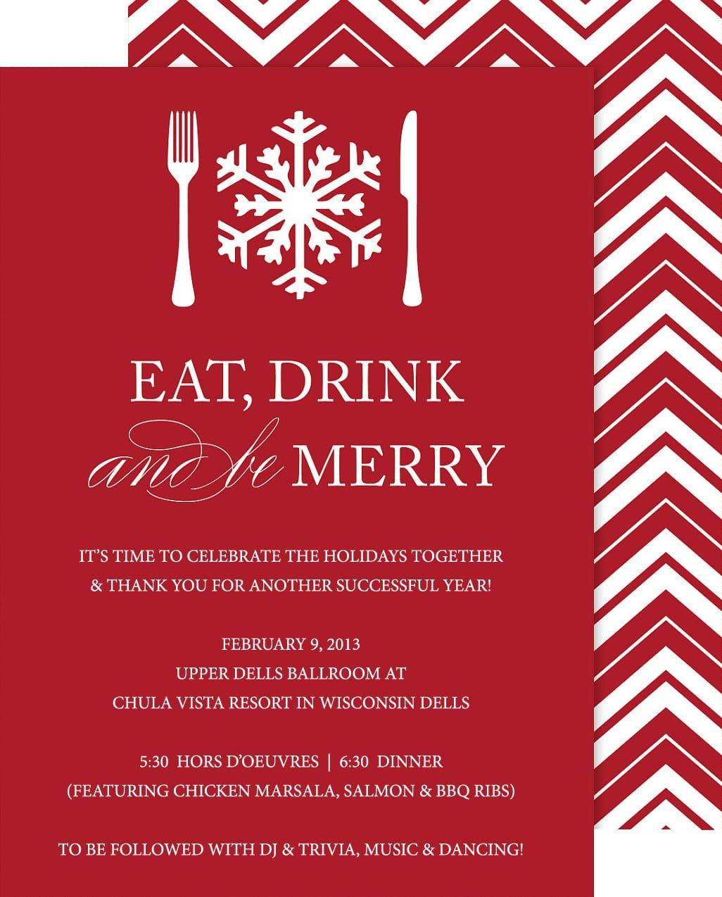 Holiday Party Invitations  Christmas party invitation template