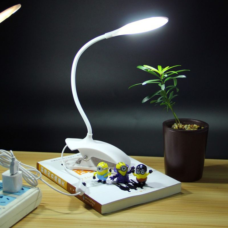 Flex Led Clip Desk Lamp Dimmable Switch Touch Sensor Table Lamps Usb Power Supply Flexible Reading Lamps Office Bedside L Led Desk Lamp Lamp Table Reading Lamp
