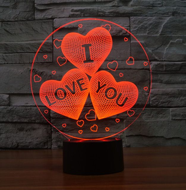 I Love You 3d Lamp Vector Model Heart Shaped Svg Cdr Pdf Dxf Etsy 3d Illusion Lamp 3d Led Lamp 3d Illusions