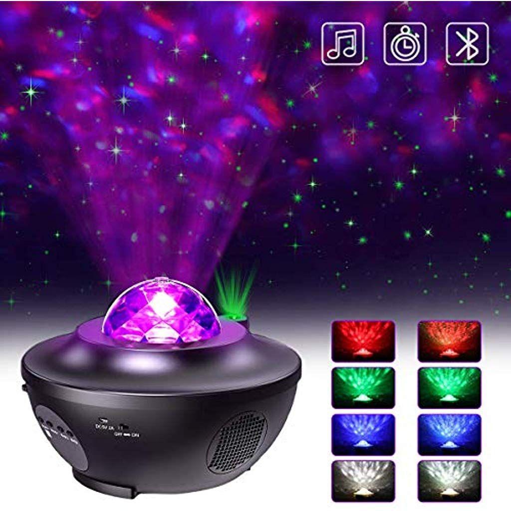 Led Projektor Sternenhimmel Lampe Mit Fernbedienung Starry Stern Mond Wasserwellen Welleneffekt Bluetooth Lautsprec In 2020 Projektor Led Projektor Sternenhimmel Lampe