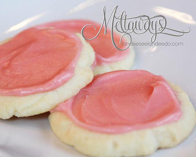 Meltaway Cookies. Only 5 ingredients: butter, cornstarch, powdered sugar, flour, cream cheese.