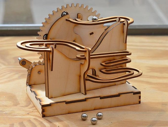 Connect These Modular Marble Mazes To Make One Giant Desktop Distraction Marble Machine Marble Maze Marble Run
