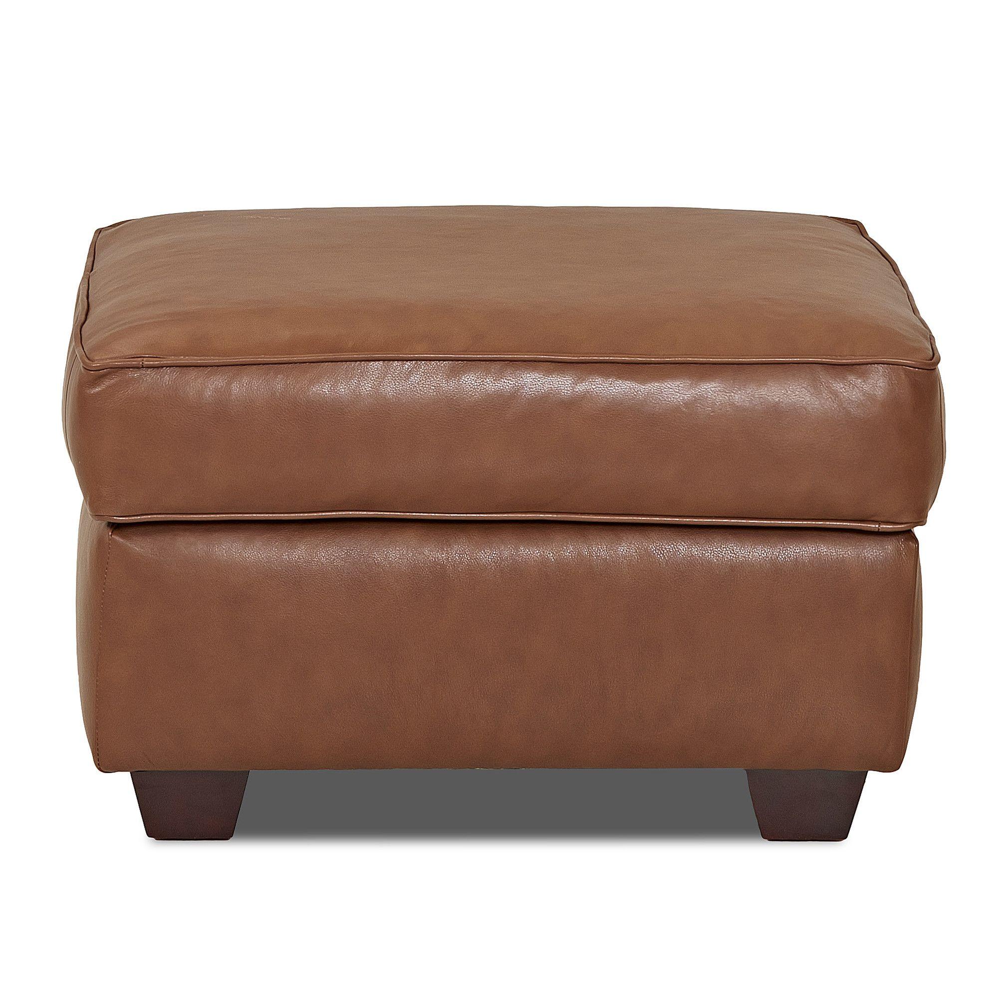 Jennifer Leather Ottoman