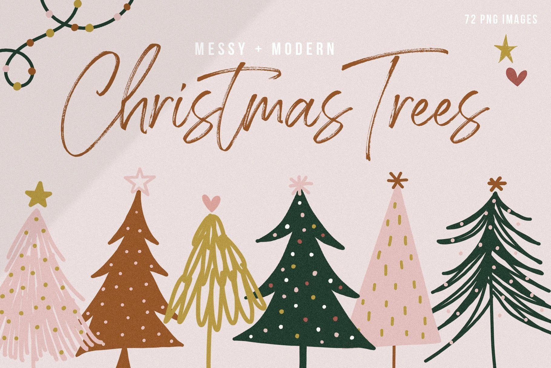 Modern Messy Christmas Trees Clip Art Collection Christmas Boho Illustrations In 2020 Christmas Graphic Design Christmas Tree Clipart Christmas Tree Quotes