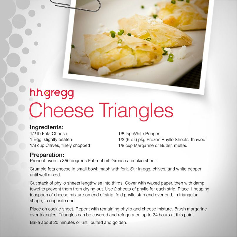 #FoodieFriday: Cheese Triangles are perfect for any occasion, even for a night in.