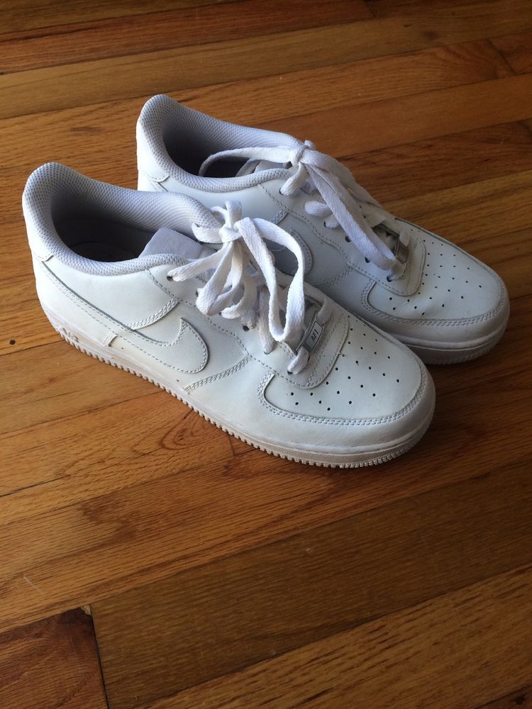 Nike Air Force 1 Low White Sneakers Youth Size 7 Womens 8 5