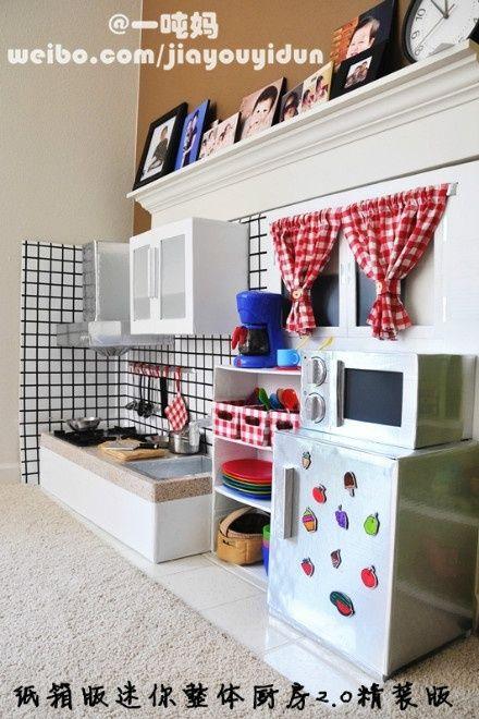 cuisine en carton id es pour l 39 cole pinterest cuisine en carton carton et cuisines. Black Bedroom Furniture Sets. Home Design Ideas
