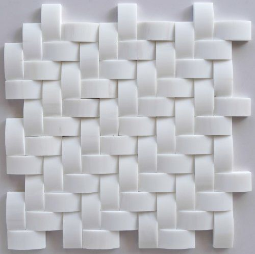 Premium White Dolomite 1 X 2 Herringbone Round Faced Honed