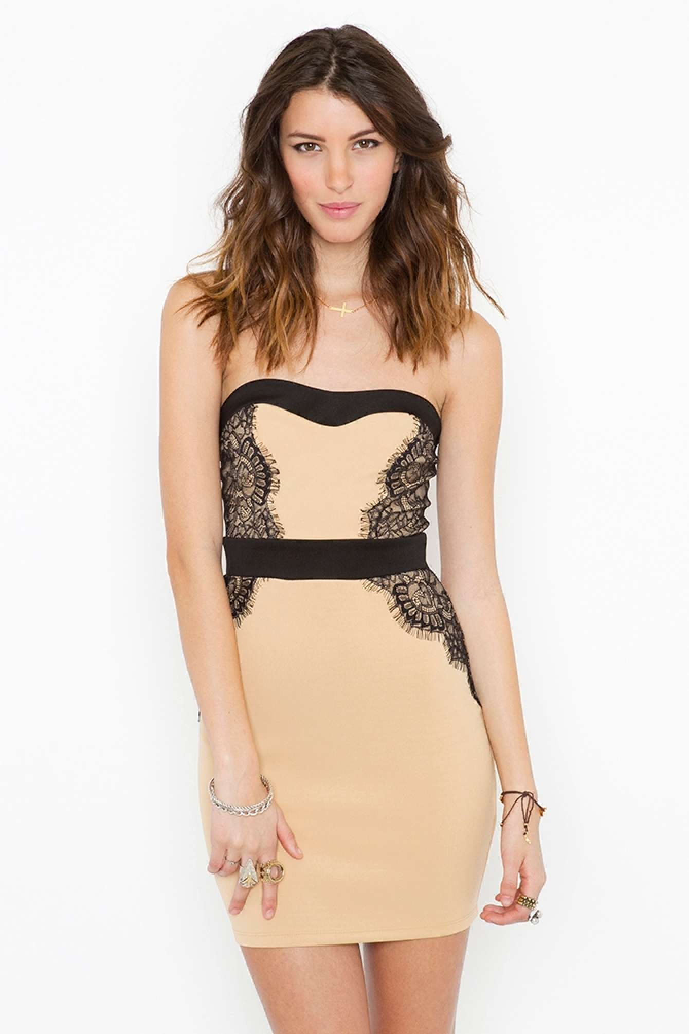 Laced sweetheart dress in whatus new at nasty gal fashionista
