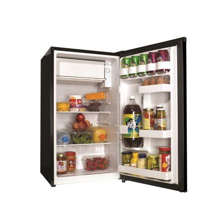 Haier 3 3 Cu Ft Single Door Compact Refrigerator Hc33sw20rb Black Walmart Com Dorm Fridge Small Dorm Fridge Design