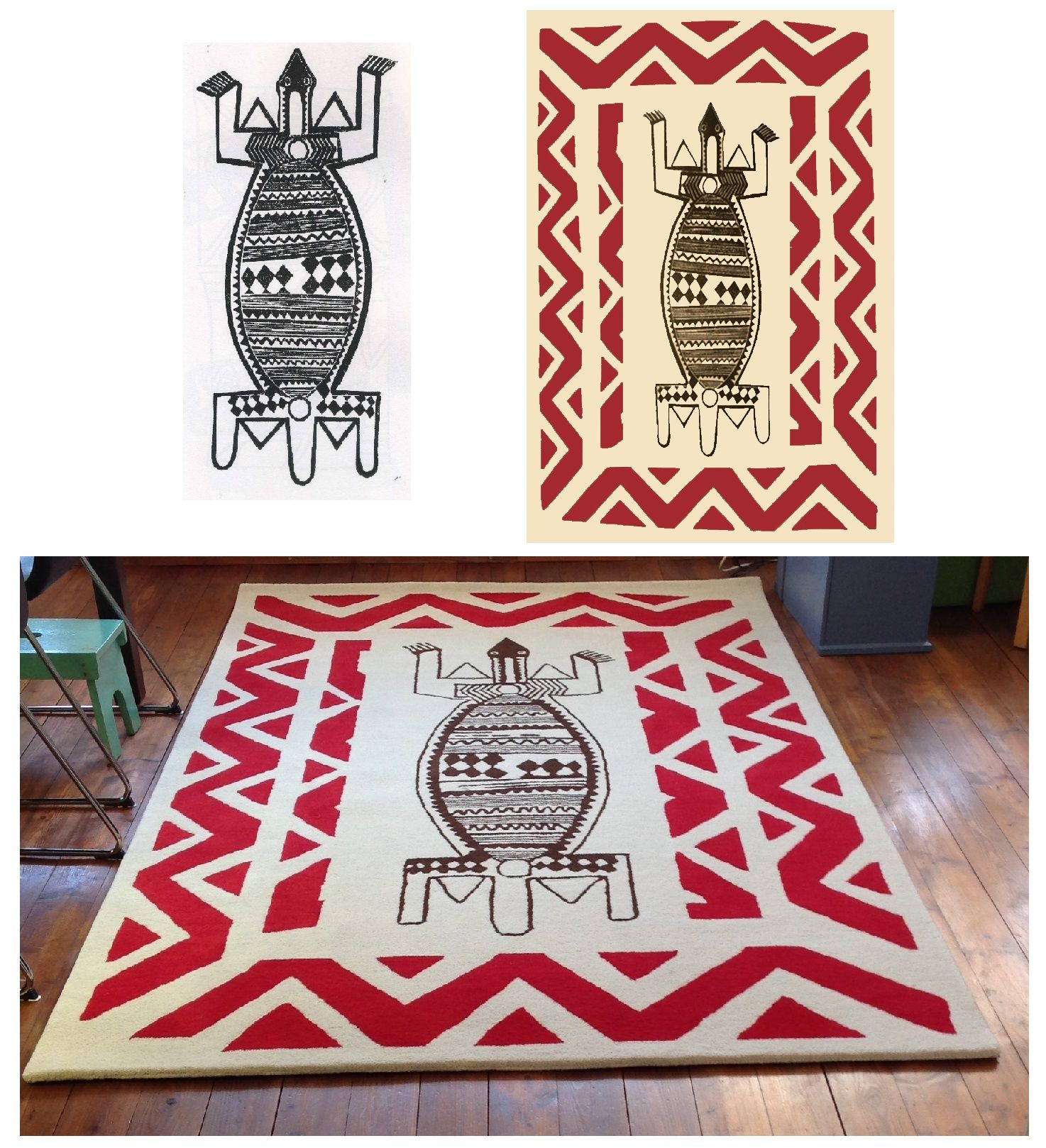 African Drawings Combination Custom Rug Rug Your Life Design