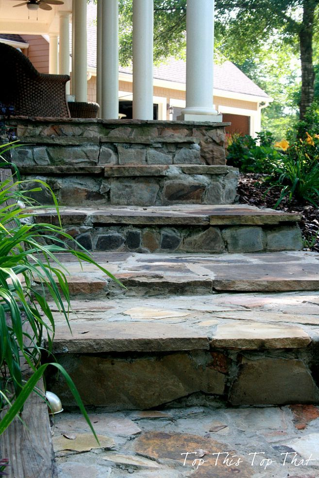 Best Diy Stone Steps You Can Do It Too Porch Steps Garden 400 x 300