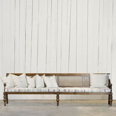Cane Back Settee - Furniture - RLH Collection - Ralph Lauren Home ...