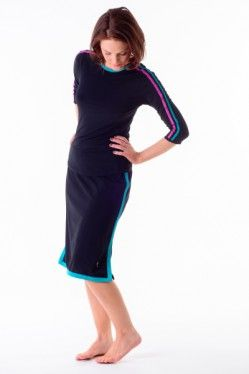 5daf7ba1d7e Running in a skirt  Why not  Check out our versatile swim to gym skirts  including this awesome Aqua Adventure Border Skirt!