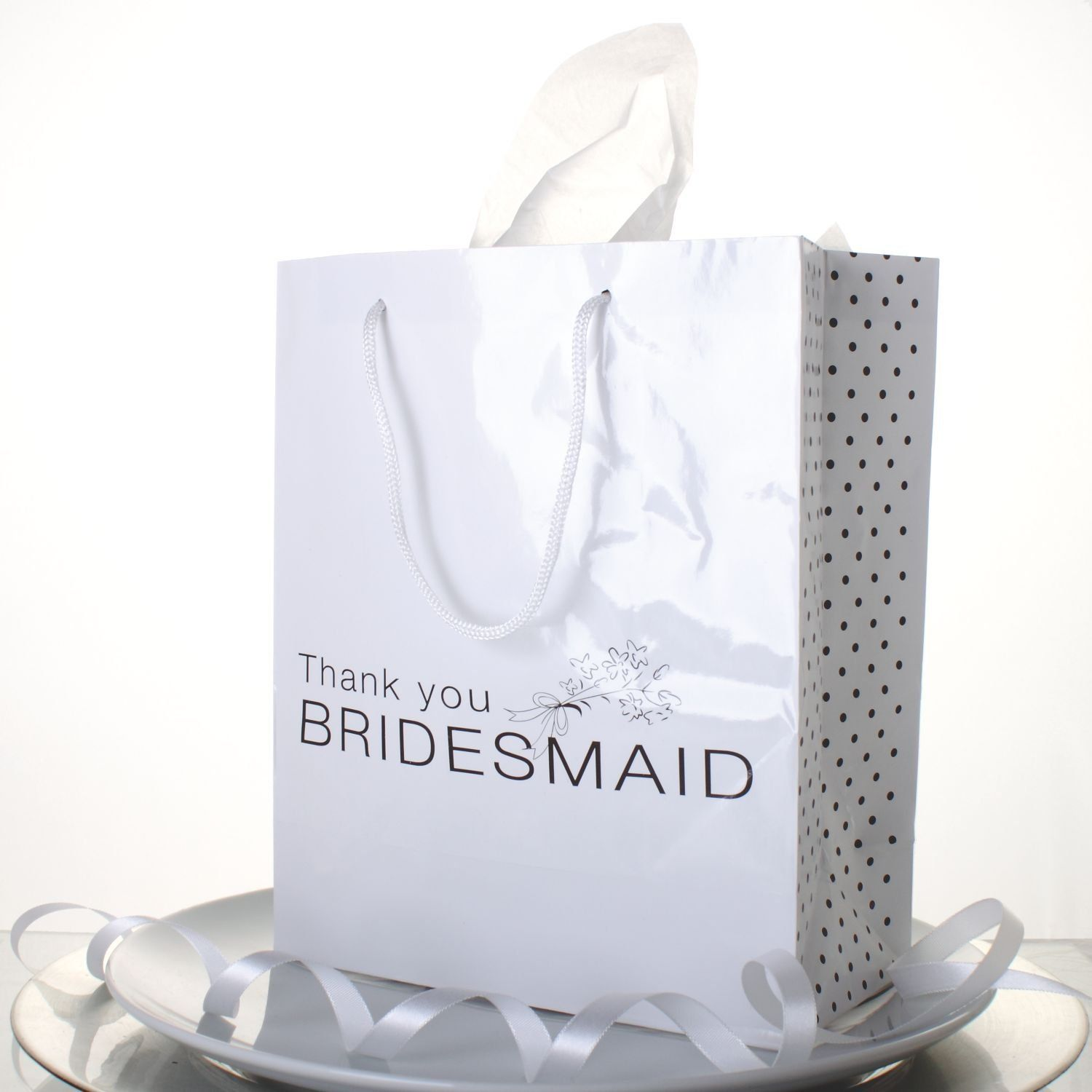 Wedding Party Gift Ideas For Bridesmaids: Lot Of 12 White Paper Thank You Bridesmaid Wedding Bridal