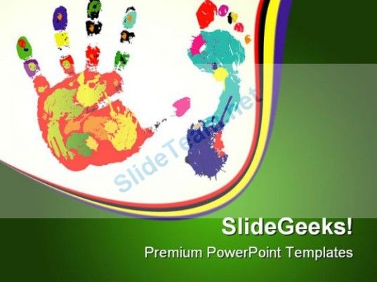 Foot And Palm Art PowerPoint Templates And PowerPoint Backgrounds 0611  Presentation Themes and Graphics Slide01