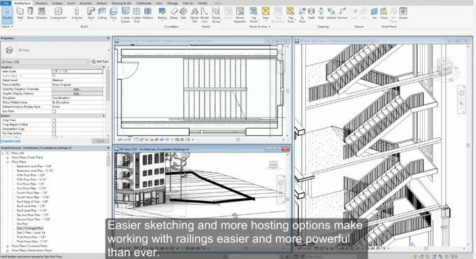 Best Improved Railing Feature And Other Points In Revit 2018 400 x 300