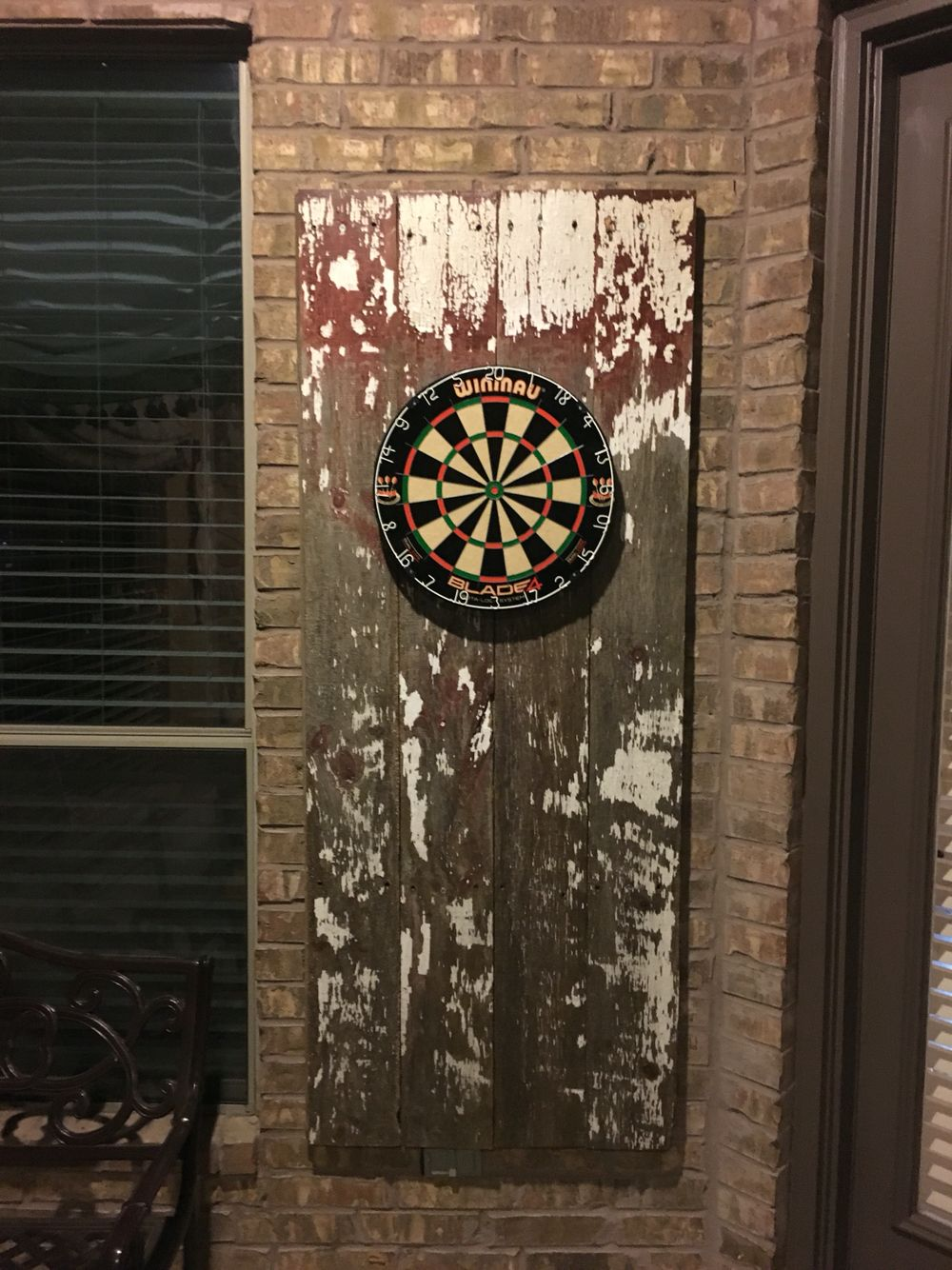Just finished putting together my new dart board with reclaimed antique  rustic siding from a barn - Just Finished Putting Together My New Dart Board With Reclaimed