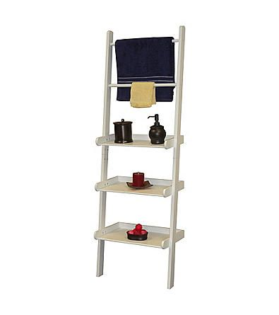 Product: RiverRidge Home Products White Bath Ladder Shelf and Towel Bar