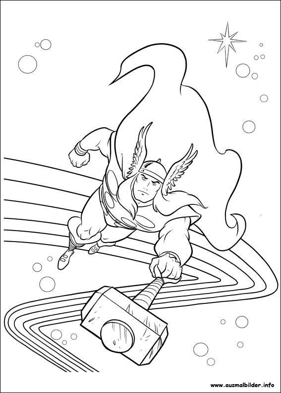 Avengers Ausmalbilder Zum Drucken: Thor Malvorlagen 187 Malvorlage Thor Ausmalbilder