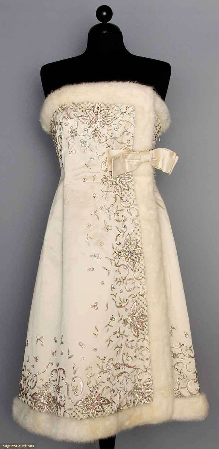 1960 wedding dresses  This is just so gorgeous Jean Patou Couture Evening Dress Early