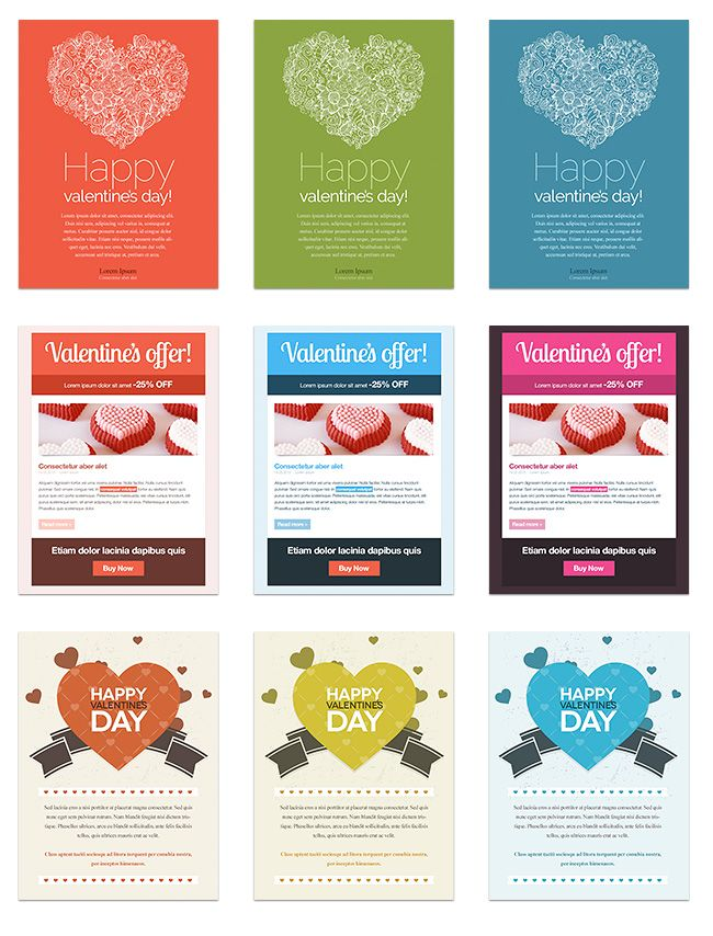 Valentine S Day Email Templates Email Template Design Email Templates Newsletter Inspiration